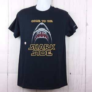 "Graphic Tee ""Come To The Shark Side"" Size M Black"